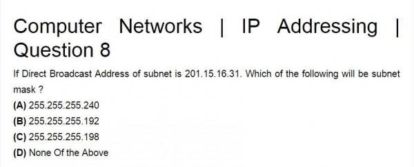 geeksforgeeks Computer NEtwork IP adressing - GATE Overflow