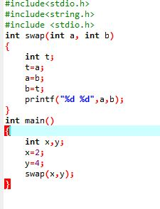 Here we are passing the values x and y in swap() calling function. So it is call by value or pass by value.