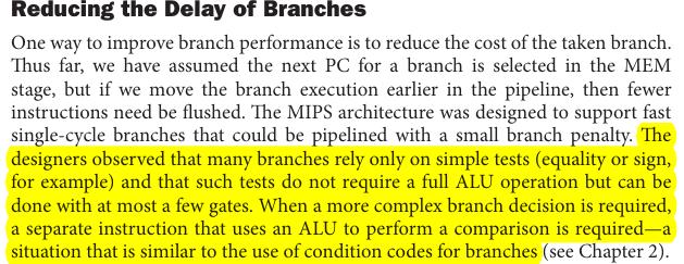 reducing branch hazard delay