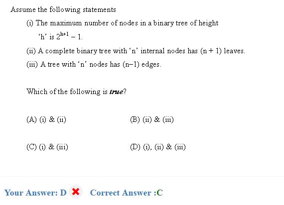Question Binary tree - GATE Overflow