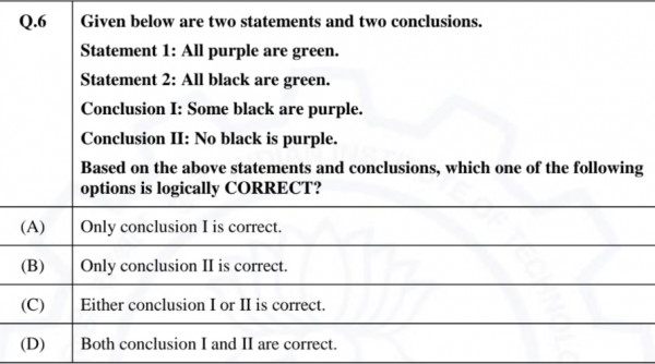 Answered: GATE CSE 2021 Set 1 | GA Question: 9